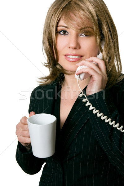 Beautiful business woman on telephone Stock photo © lovleah