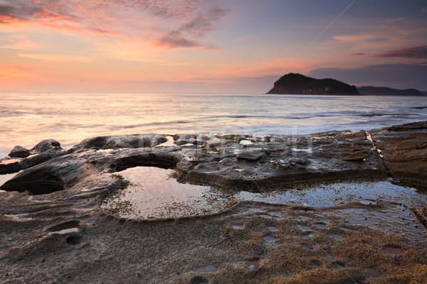 Güzellik inci plaj Avustralya güzel gündoğumu Stok fotoğraf © lovleah