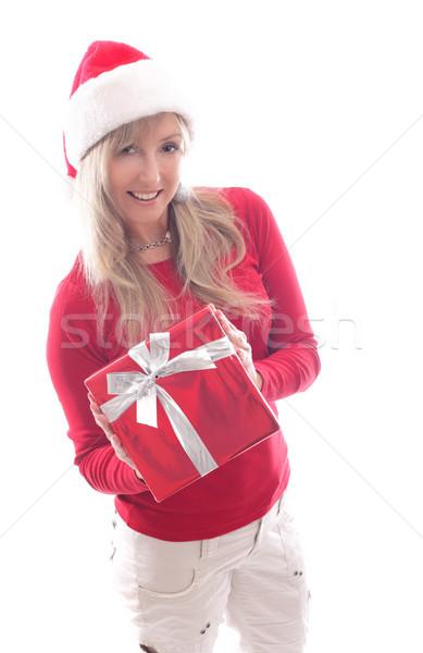 Woman Christmas shopping xmas gift giving Stock photo © lovleah