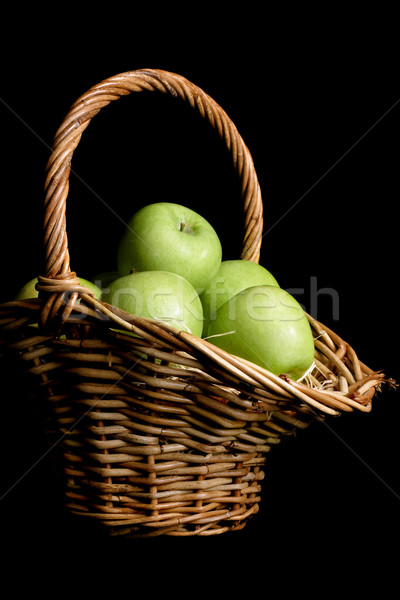 Green apple Basket Stock photo © lovleah