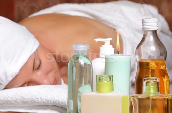 Aroma massage beauty therapy Stock photo © lovleah