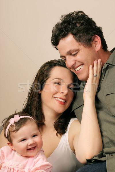 семьи единения вместе улыбается смех женщину Сток-фото © lovleah