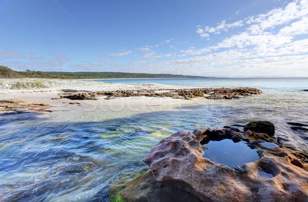 рок ручей южный конец пляж воды Сток-фото © lovleah