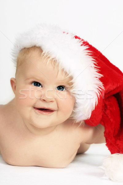 Happy girl santa baby Stock photo © lovleah