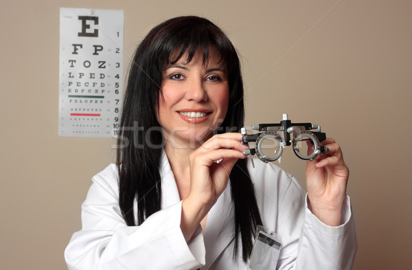 Eye doctor with trial frames Stock photo © lovleah