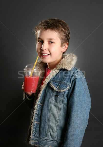 Child Drinking a Healthy Fruit Juice Stock photo © lovleah