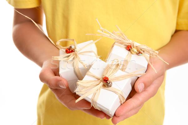 Christmas Present Trio Stock photo © lovleah