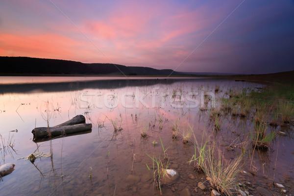 Sunset at Lake Burralow Stock photo © lovleah