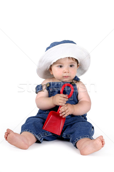Zomer baby denim matching Stockfoto © lovleah