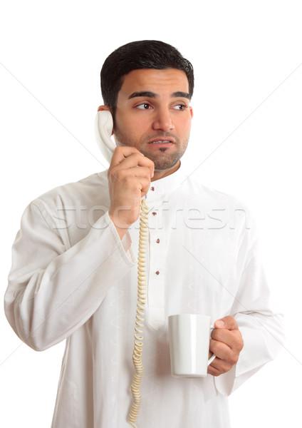 üzlet dilemma aggódó férfi telefon üzletember Stock fotó © lovleah