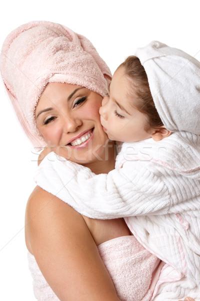 Mother daughter at bathtime Stock photo © lovleah