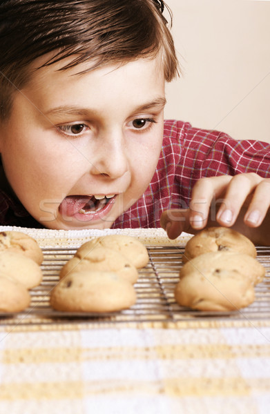 Une maman cookies alimentaire Photo stock © lovleah