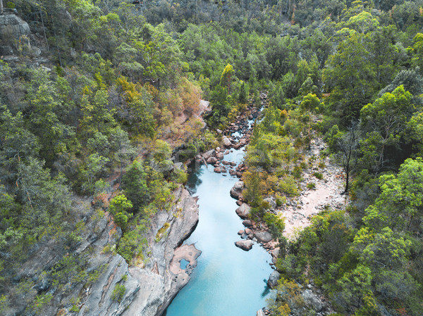 Montagna torrente acqua alberi blu escursioni Foto d'archivio © lovleah