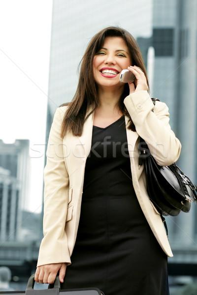 Businesswoman Upward and Onward Stock photo © lovleah