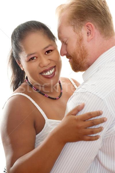 Racial relações feliz casal mulher homem Foto stock © lovleah