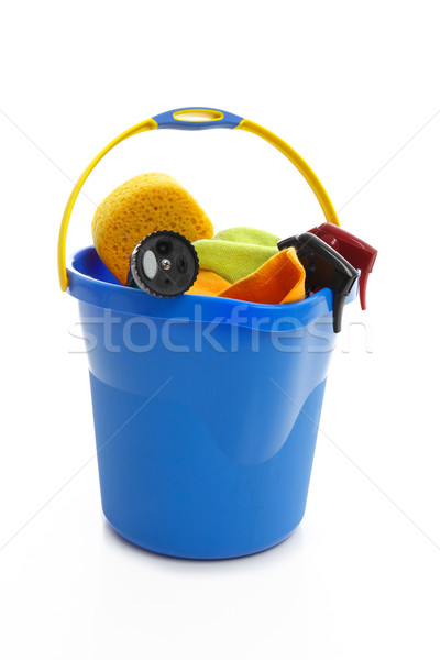 Bucket and car cleaning products Stock photo © lovleah