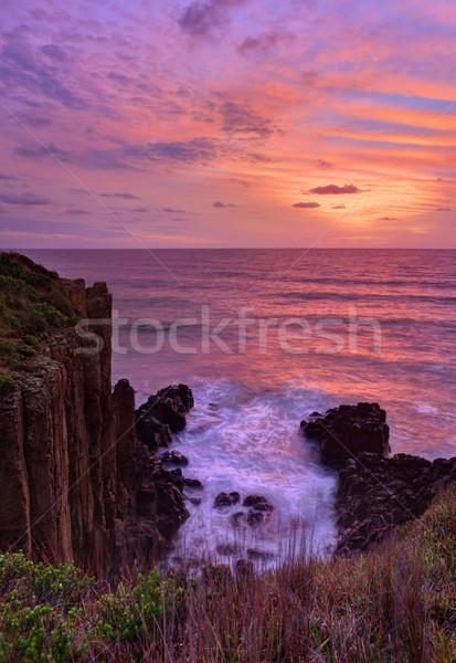 Mooie zonsopgang vulkanisch zee Stockfoto © lovleah
