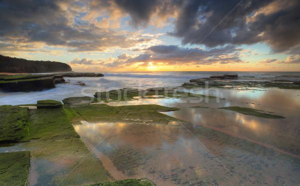 Rising sun on  Turrimetta coastline Sydney Stock photo © lovleah