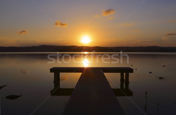 Sunset and jetty Stock photo © lovleah