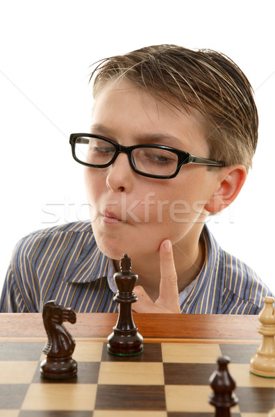 Chess player analyzing next move Stock photo © lovleah