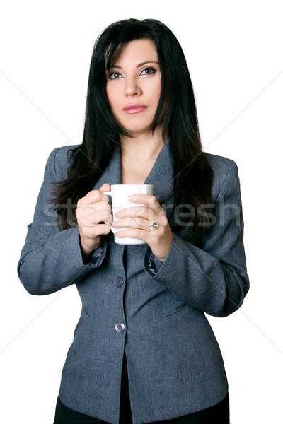 Beautiful brunette  businesswoman  Stock photo © lovleah