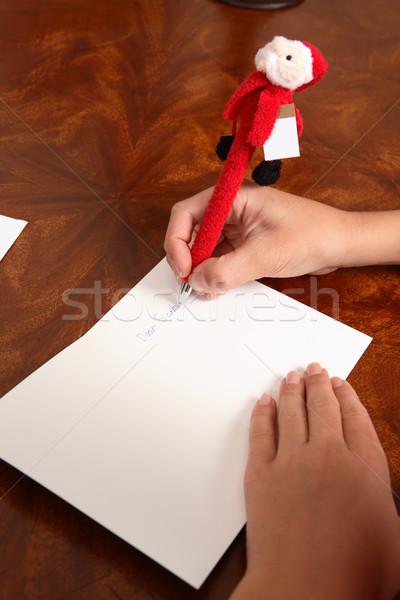 Criança escrita fora carta Foto stock © lovleah