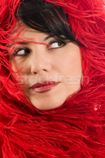 Alluring woman in red Stock photo © lovleah