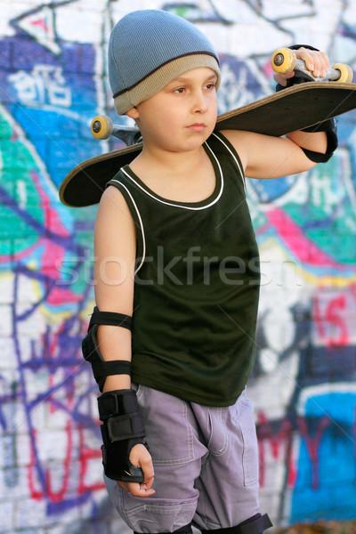 Skater Boy Grafitti Stock photo © lovleah