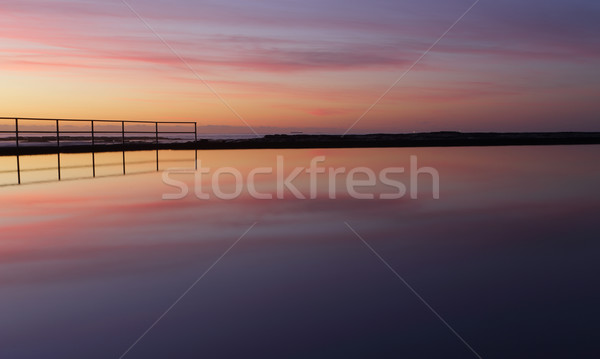 Sunrise reflections are peaceful meditations to purify the soul. Stock photo © lovleah