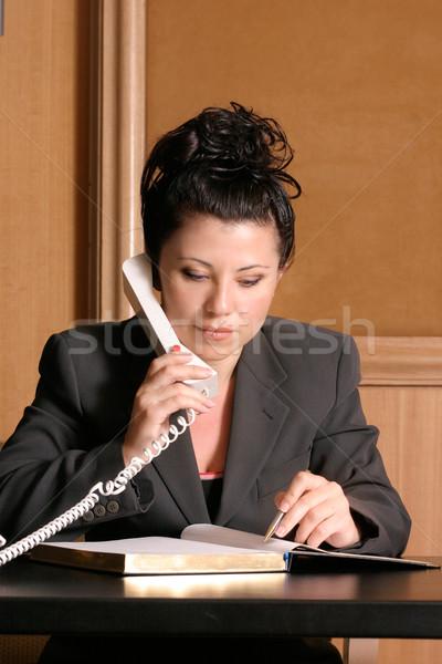 Adwokat działalności zawodowych telefonu harmonogram dziennik Zdjęcia stock © lovleah