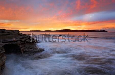 морем пещере Восход долго работу прогресс Сток-фото © lovleah