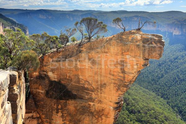 Hanging Rock Blue Mountains Australia Stock photo © lovleah