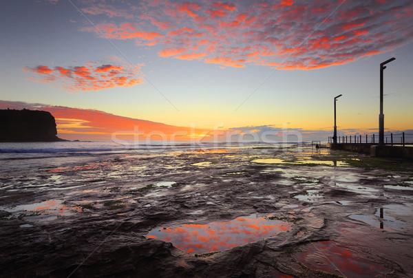 Foto stock: Vale · marinha · nascer · do · sol · Sydney