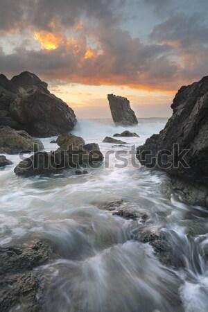 Ocean kanał latarni plaży portu nice Zdjęcia stock © lovleah
