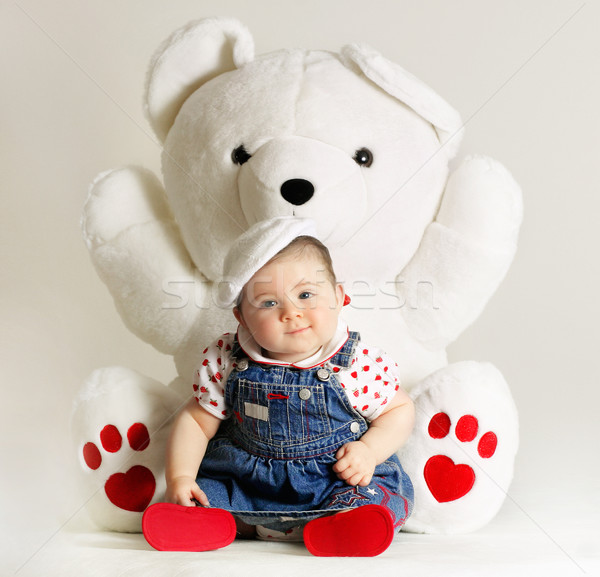 Тедди любви большой мишка игрушку Сток-фото © lovleah