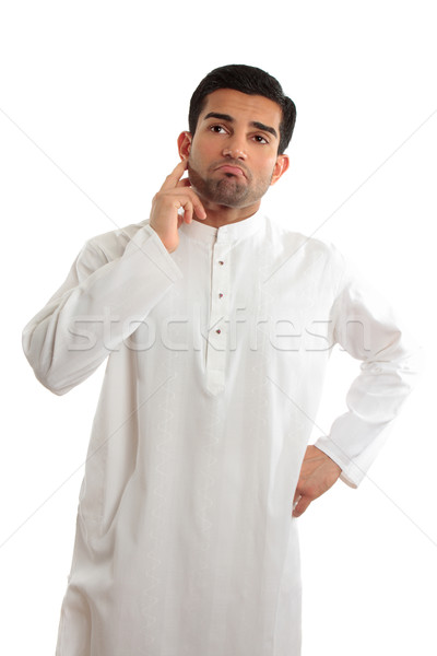 Worried troubled ethnic man wearing a kurta Stock photo © lovleah