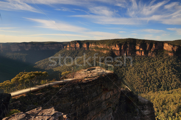 Pulpit /rock Lookout, ;Blue Mountains Stock photo © lovleah