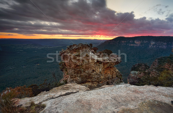 Valley views after sunset from Boars Head Rock Stock photo © lovleah