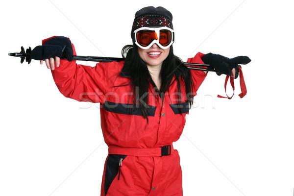 Woman wearing ski  gear Stock photo © lovleah