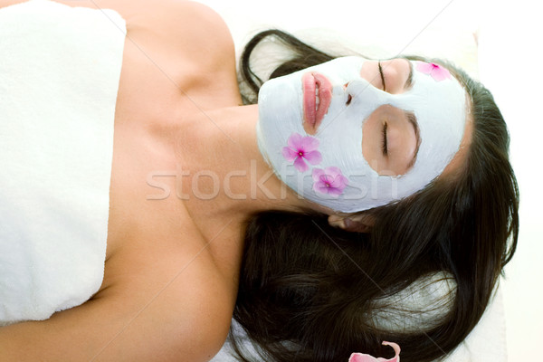 Pretty Woman Beauty Mask Stock photo © lovleah