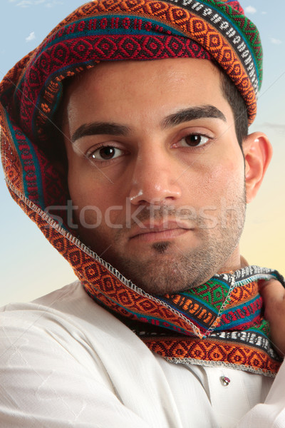 Arab man wearing  turban Stock photo © lovleah