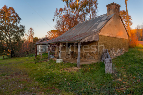 деревенский старые каменные фермы здании дома Сток-фото © lovleah