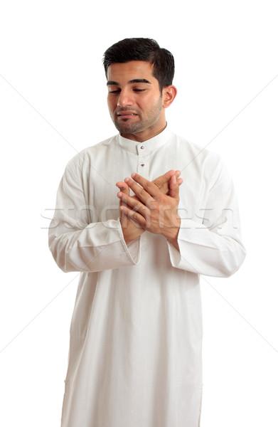 Worried stressed sad arab man Stock photo © lovleah