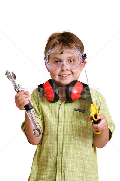 Young handyman Stock photo © lovleah