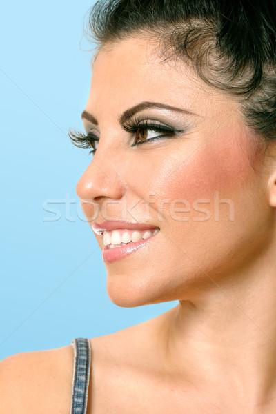 Beautiful woman face looking sideways  Stock photo © lovleah