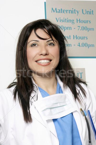 Ziekenhuis arts moederschap werknemer vrouw werk Stockfoto © lovleah