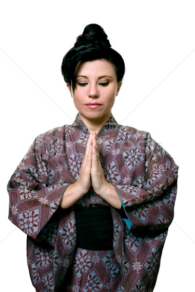 静か 祈り 瞑想 女性 伝統的な アジア ストックフォト © lovleah