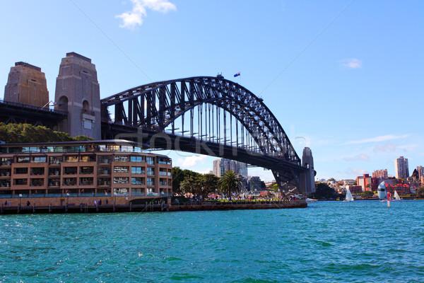Sydney puerto puente Australia mirando rocas Foto stock © lovleah