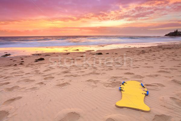 Gyönyörű nyár tengerpart napfelkelte Ausztrália bejárat Stock fotó © lovleah
