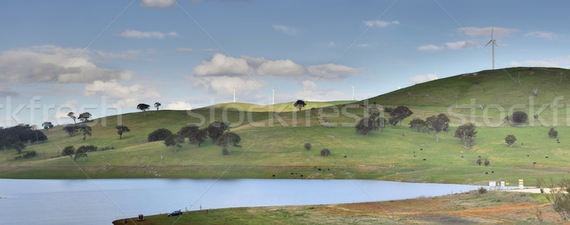 Carcoar Dam, and recreational area Stock photo © lovleah
